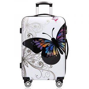 Valise rigide Butterfly avec Cadenas à combinaison - XL/L/M - Voyage vacances de la marque Deuba image 0 produit