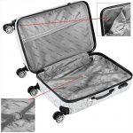Valise rigide Butterfly avec Cadenas à combinaison - XL/L/M - Voyage vacances de la marque Deuba image 3 produit