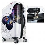 Valise rigide Butterfly avec Cadenas à combinaison - XL/L/M - Voyage vacances de la marque Deuba image 5 produit