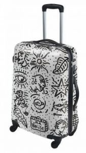 "Valise Street-Art ""Spiessert-Savebag"" 18260/59 Blanc - Valise taille Medium TSA rigide 59cm - 4 Roues 360°- Cap.:102 Litres de la marque Savebag image 0 produit"