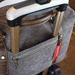 Weekender sac à bandoulière toile sac en cuir véritable voyage sac fourre-tout de la marque Habitoux image 3 produit