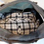 Weekender sac à bandoulière toile sac en cuir véritable voyage sac fourre-tout de la marque Habitoux image 4 produit
