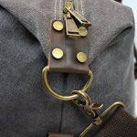 Weekender sac à bandoulière toile sac en cuir véritable voyage sac fourre-tout de la marque Habitoux image 5 produit