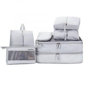 Windtook 7 Set Système de Cube Voyage-Parfait Voyage Bagage Organisateur-2 Cubes d'emballage-3 Pochettes-1 Trousses de toilette-1 Chaussures Premium Sac de la marque WindTook image 0 produit