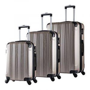 WOLTU #375 Valise de voyage rigide bagage de chariot 4 roulettes Lot de 3(M+L+XL) de la marque WOLTU image 0 produit