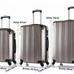 WOLTU #375 Valise de voyage rigide bagage de chariot 4 roulettes Lot de 3(M+L+XL) de la marque WOLTU image 5 produit