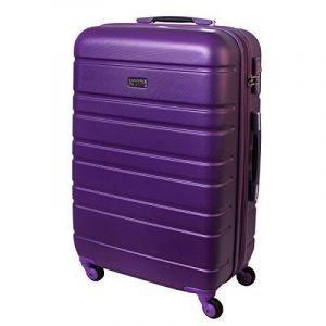 XL Rigide TSA Chariot fermé 80 Litres Violet 815 B de la marque Karry image 0 produit