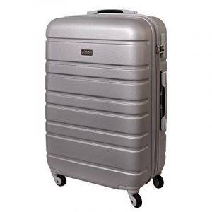 XL valise rigide à roulettes TSA fermeture combi 80 Litres Argent 815 B de la marque Karry image 0 produit