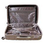 XL valise rigide à roulettes TSA fermeture combi 80 Litres Argent 815 B de la marque Karry image 5 produit